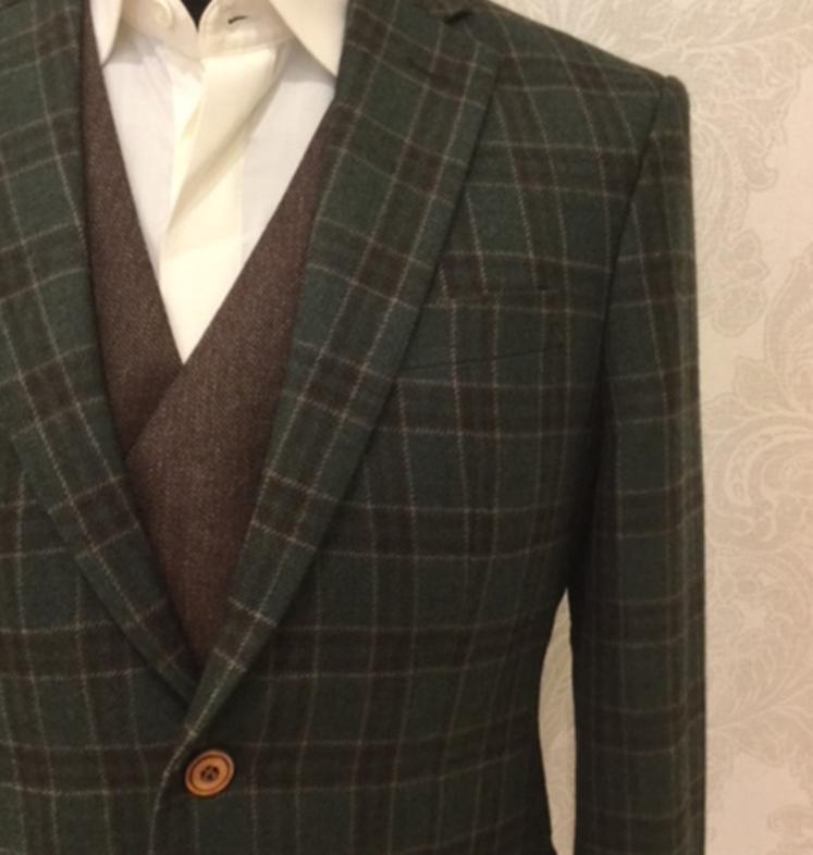 Anzug Vintage Look Anzug Glencheck Karo Aus Englischer Tweed